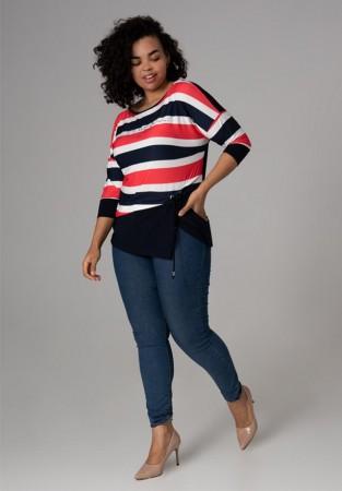 Pasiasta bluzka plus size