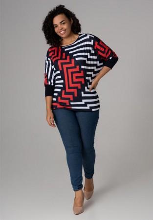 Bluzka plus size we wzory