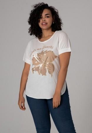 Zwiewna, biała bluzka plus size