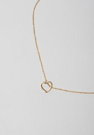 Wisiorek serce w kolorze złota