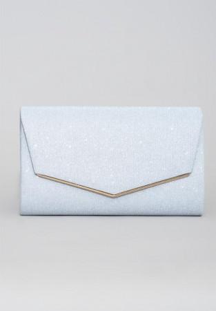 Biała kopertówka z motywem o złotej barwie