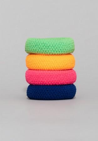 Kolorowy zestaw gumek do włosów