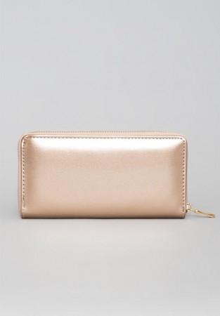 Perłowy portfel damski rosegold