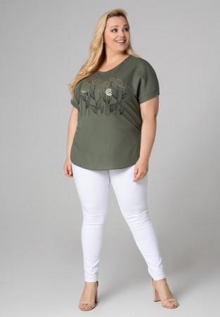 Bluzka plus size z motywem