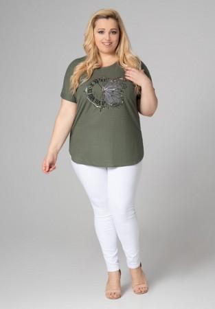 Oliwkowa bluzka plus size