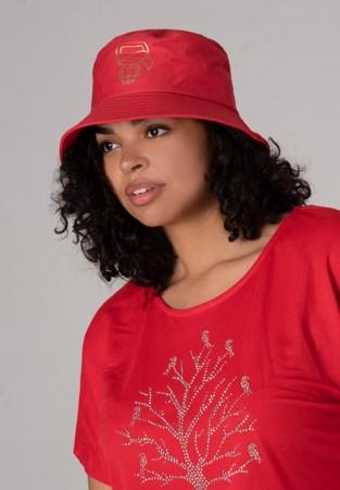 Czapka bucket hat czerwona