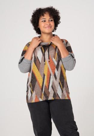 Bluza XXL w kolorach jesieni