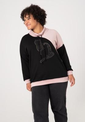 Bawełniana bluza XXL z motywem