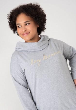 Bawełniana bluza XXL z kołnierzykiem