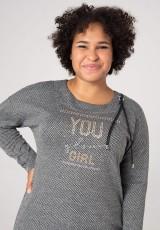 Bluza plus size z nadrukiem