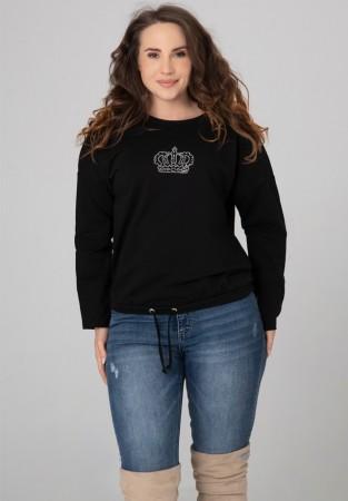 Bluza XXL dżetowa korona czarna