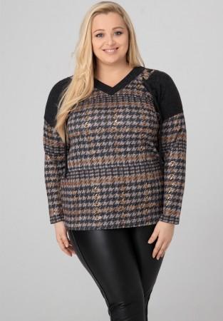 Bluzka Sweterek XXL Złote Zdobienia
