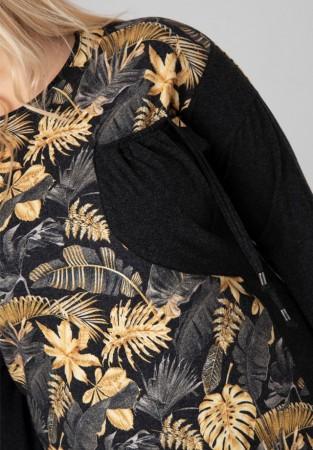 Tunika XXL z asymetryczną kieszonką egzotyka