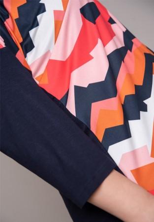 Kolorowa tunika z wydłużonym tyłem